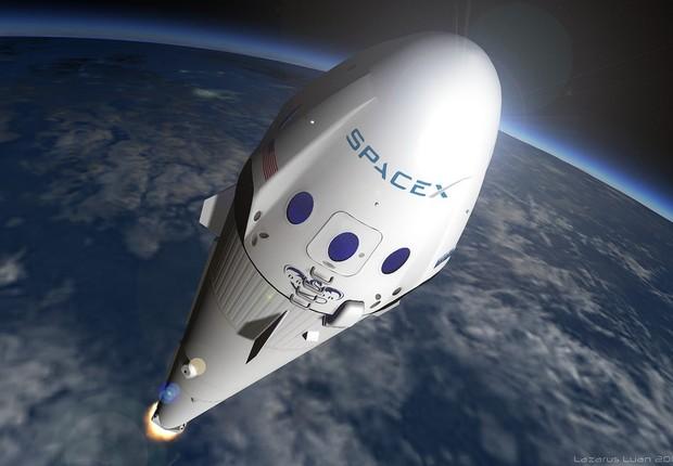 Foguete da SpaceX (Foto: SpaceX)