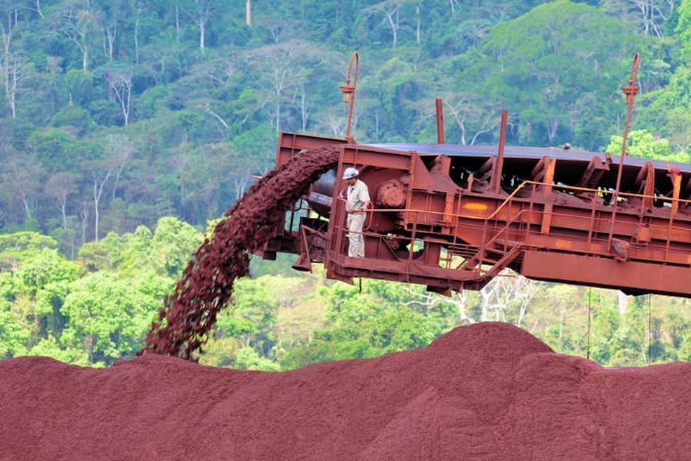Minério de ferro no Pará — Foto: Divulgação/Agência Pará