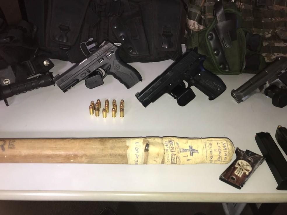 Material apreendido na operação desta manhã (Foto: Divulgação/Polícia Civil)