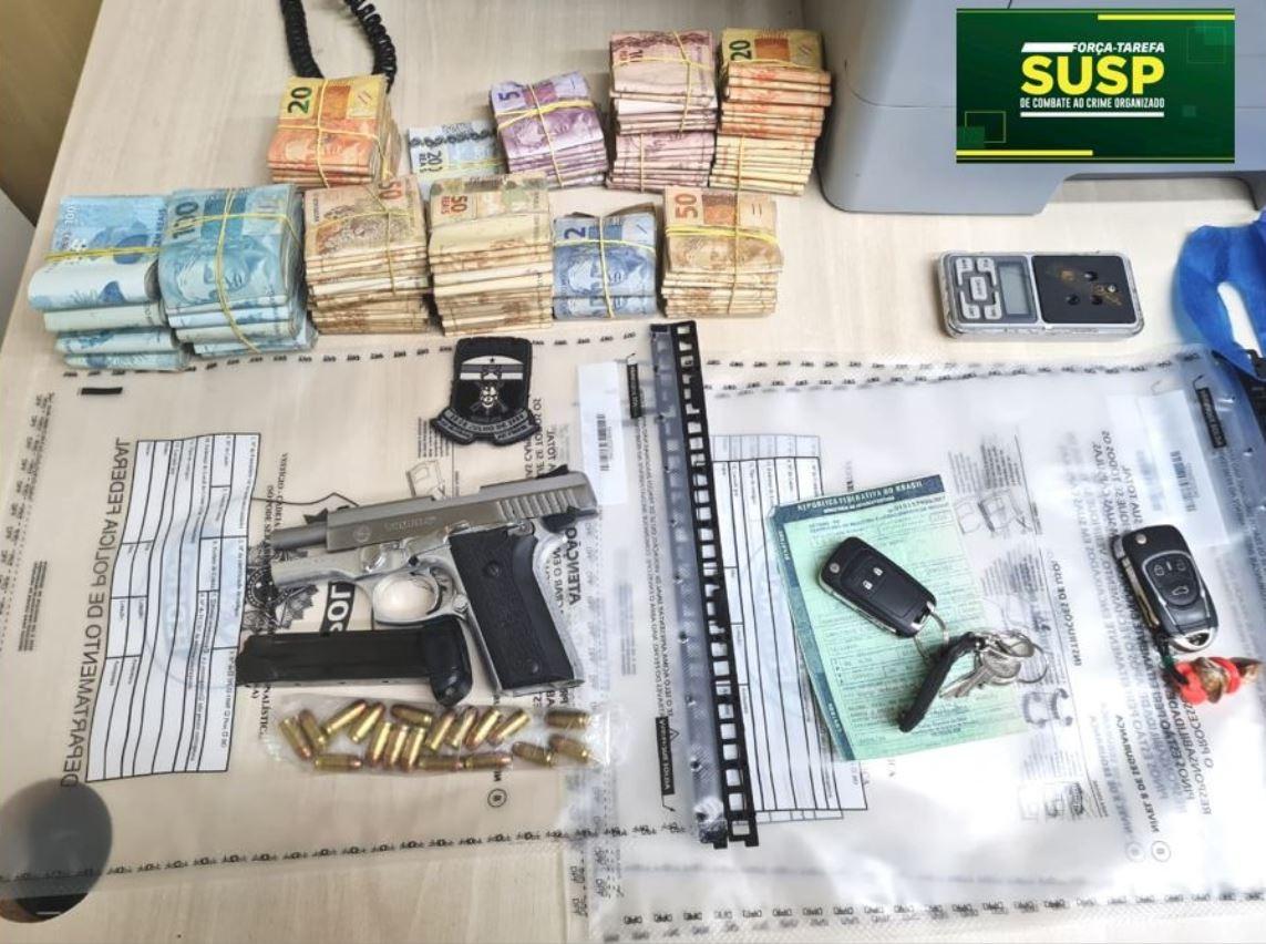 Quatro suspeitos de tráfico de drogas são presos com cocaína, maconha e R$ 85 mil na Grande Natal