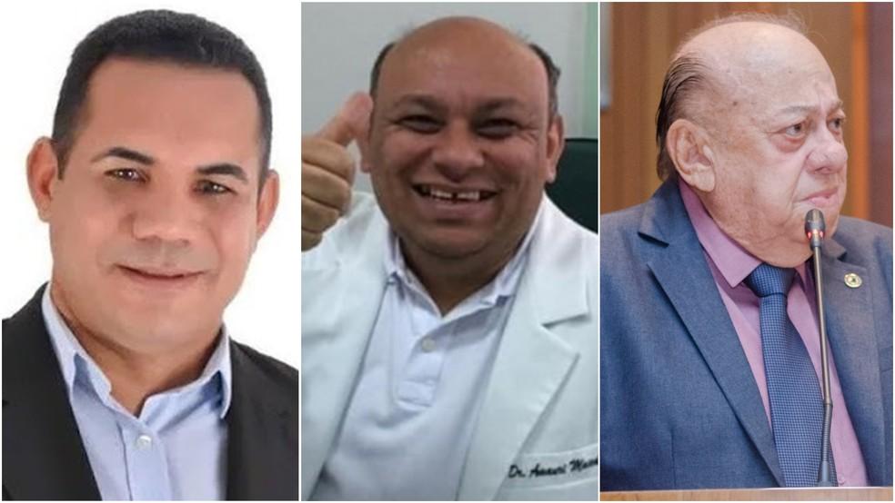 Prefeito Alberto Rocha, médico José Amauri e o deputado Zé Gentil morreram em junho em decorrência da Covid-19 — Foto: Arquivo pessoal