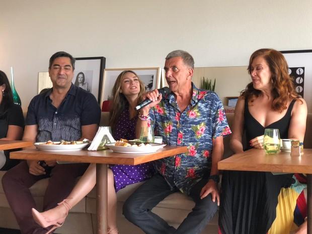 Zeca Camargo, Isabelle Drummond, Jorge Fernando e Claudia Raia falam sobre nova novela das sete (Foto: Carla Neves/QUEM)