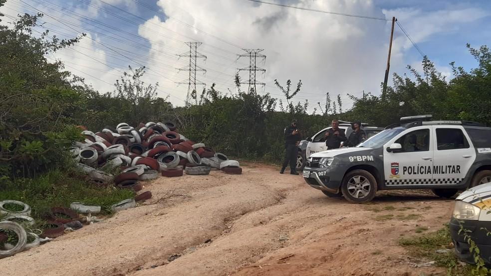 Jovem foi encontrada decapitada em uma região de duna na Zona Oeste de Natal — Foto: Sérgio Henrique Santos/InterTV Cabugi