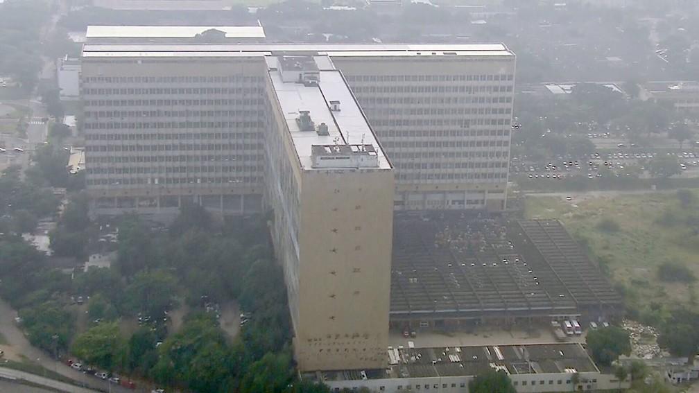 Hospital Universitário Clementino Fraga Filho, no Câmpus do Fundão da UFRJ — Foto: Reprodução/TV Globo