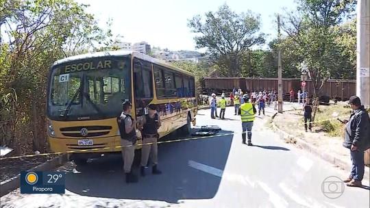Acidente entre van escolar e trem deixa feridos em Sarzedo, na Grande BH