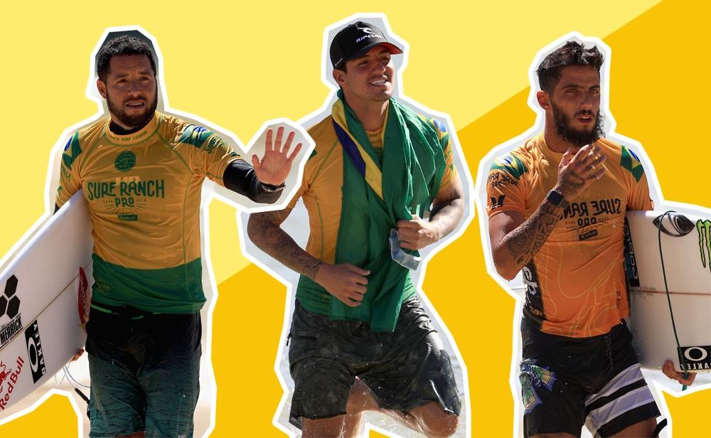 Mineirinho, Gabril Medina e Felipe Toledo são três dos cinco integrantes (Foto: Getty Images / GQ Brasil)