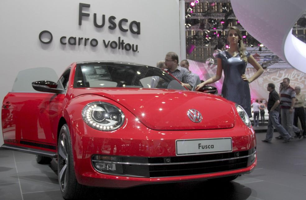 Novo Fusca foi mostrado no Salão de SP em 2012 — Foto: Carlos Santos/G1
