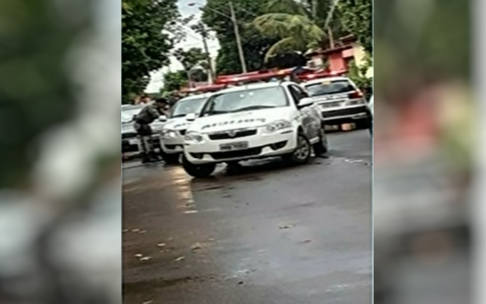 Casal que mantinha criança em cárcere privado foi preso em flagrante pela Polícia Militar, em Itumbiara — Foto: Reprodução/TV Anhanguera