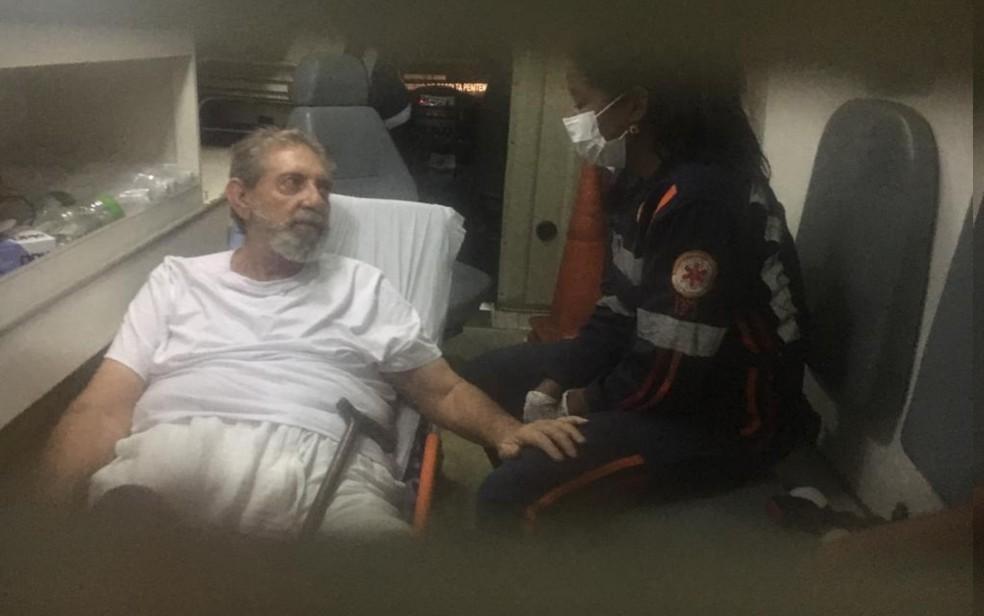 João de Deus chega ao Instituto Neurológico de Goiânia — Foto: Rodrigo Gonçalves/G1