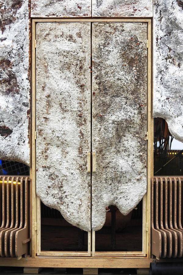 Construção feita de cogumelo limpa o ar à medida que cresce na Holanda (Foto: Erik Melander / Oscar Vinck)