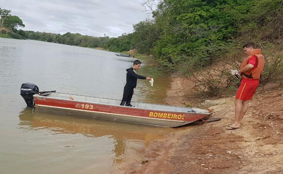 Corpo de Bombeiros de Januária fez buscas pelo corpo por 10 dias — Foto: Corpo de Bombeiros/Divulgação