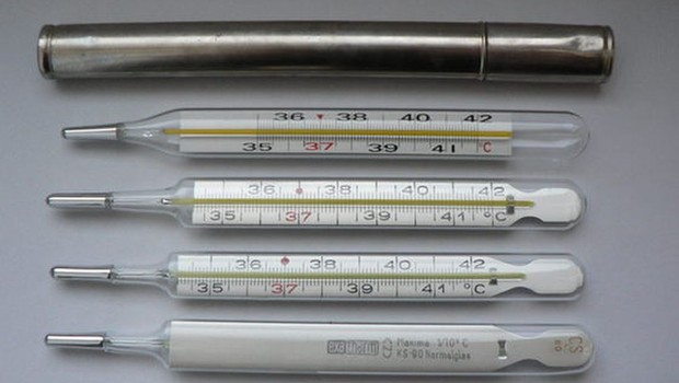 termômetros de mercúrio (Foto: Divulgação Anvisa)