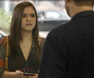 Mel Maia é Cássia em 'A dona do pedaço'   Reprodução