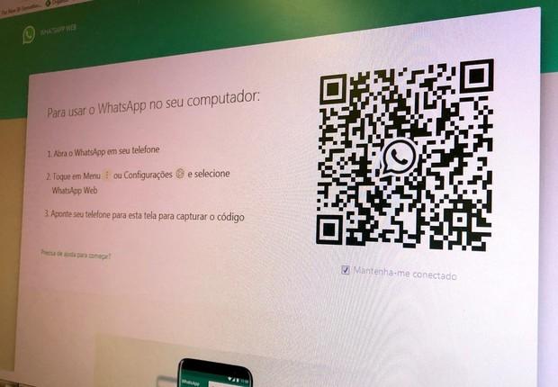 QR Code para acesso ao WhatsApp Web (Foto: Época Negócios Online)