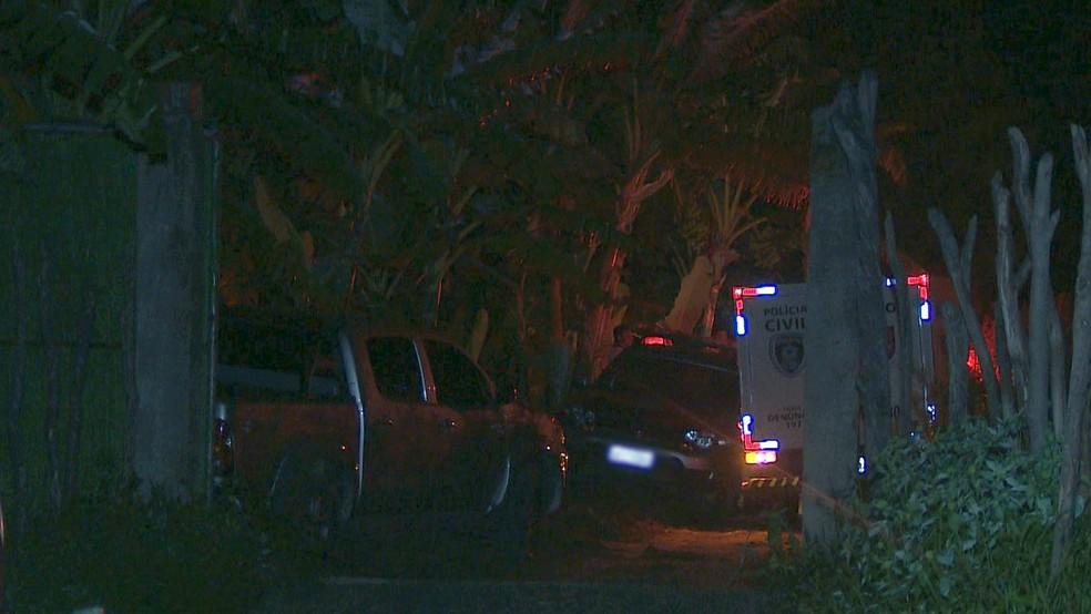 Homicídio aconteceu na Zona Rural do Conde, na Paraíba — Foto: Reprodução/TV Cabo Branco
