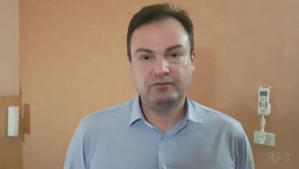 Prefeito de Rolândia, Luiz Francisconi Neto (PSDB), foi denunciado pelo MP no dia 4 de outubro — Foto: Reprodução/RPC