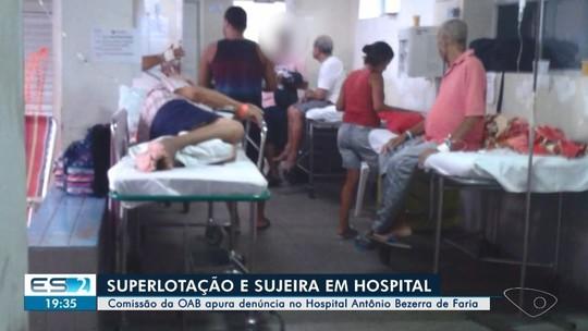 Pacientes denunciam más condições no Hospital Antônio Bezerra de Faria em Vila Velha, ES