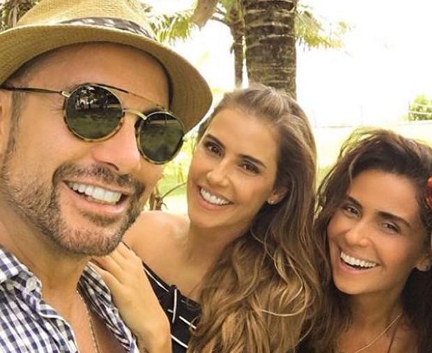 Fernando Torquatto, Deborah Secco e Giovanna Antonelli (Foto: Reprodução/Instagram)