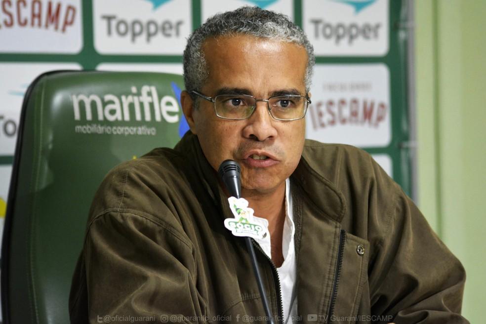 Palmeron Mendes Filho, ex-presidente do Guarani  — Foto: Letícia Martins / Guarani Press