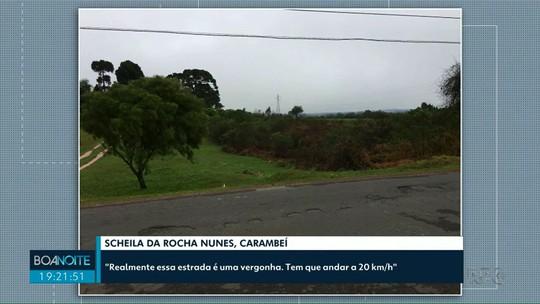 Prefeitura de Carambeí retira placa instalada há 10 meses de obra que não começou