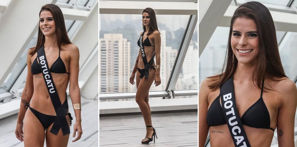 A Miss Botucatu, Anielle Loli, de 26 anos, candidata a Miss São Paulo 2018 (Foto: Fábio Tito/G1)