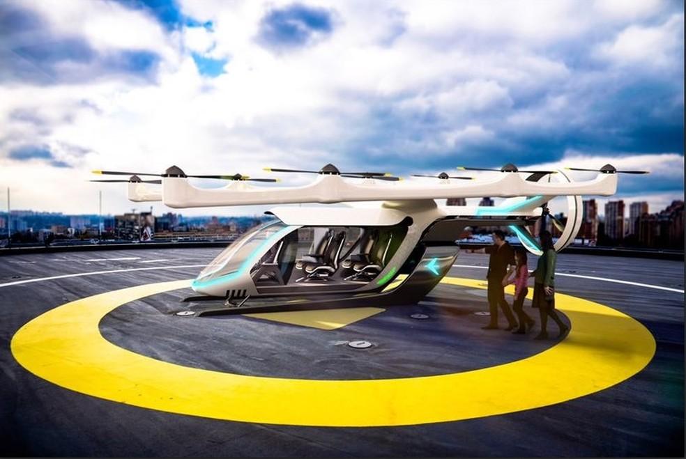 Protótipo foi apresentado pela Embraer em Los Angeles (Foto: Embraer/Divulgação)