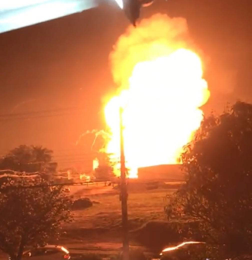 Explosão em posto de combustíveis de Rio Claro — Foto: Arquivo Pessoal