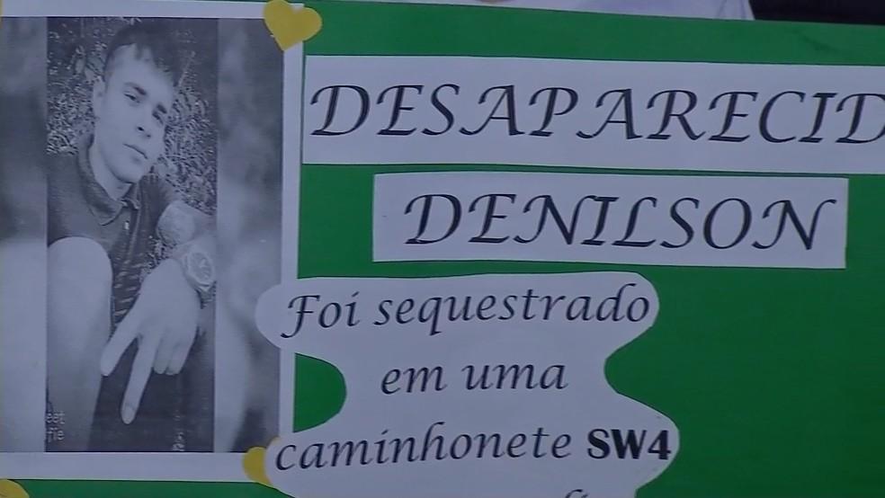 Denilson foi visto pela última vez no dia 26 de novembro — Foto: TVCA/Reprodução