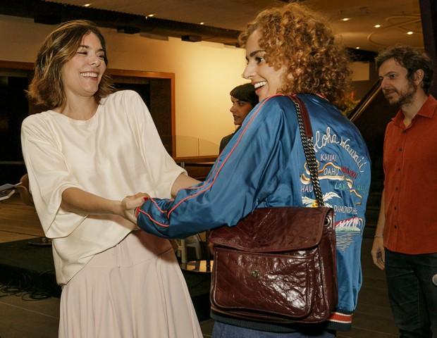 Laura Ancona e Leila Slimani: a escritora franco-marroquina foi uma das estrelas da Flip deste ano (Foto: Mariana Pekin)