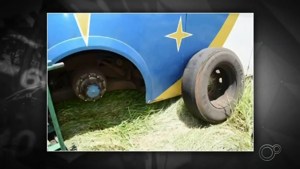 Tragédia em Taguaí: perícia no sistema de freio do ônibus não apontou falha do freio — Foto: Reprodução/TV TEM