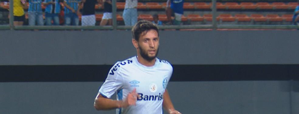 Juninho Capixaba cumpre suspensão diante do Fortaleza — Foto: Reprodução