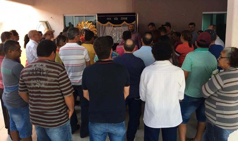 Corpo do prefeito de Miracema do Tocantins é velado (Foto: Fidel Costa/Divulgação)