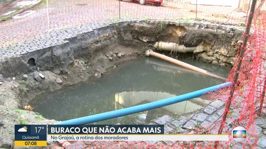 Moradores do Grajaú reclamam de buracos pelas ruas