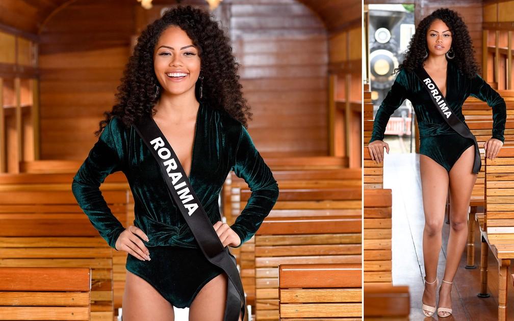 Natali Vitória, 20 anos, estudante de medicina veterinária, é a Miss Roraima — Foto: Rodrigo Trevisan/Divulgação/Miss Brasil