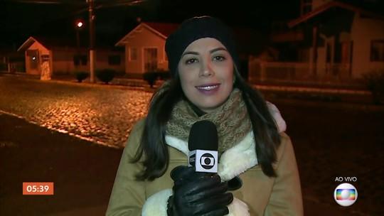 Massa de ar polar despenca as temperaturas na Serra Catarinense