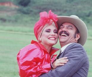 Regina e LIma Duarte em cena de Roque Santeiro | TV Globo