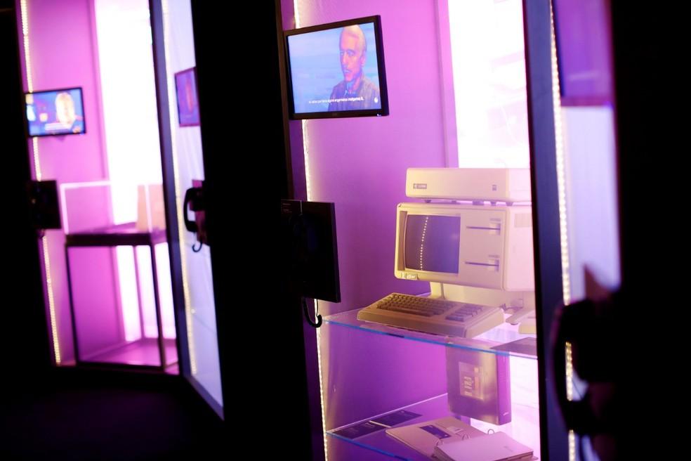 Computador 'Lisa', uma das estrelas da exposição 'Steve Jobs, o visionário' (Foto: Celso Júnior/Divulgação)