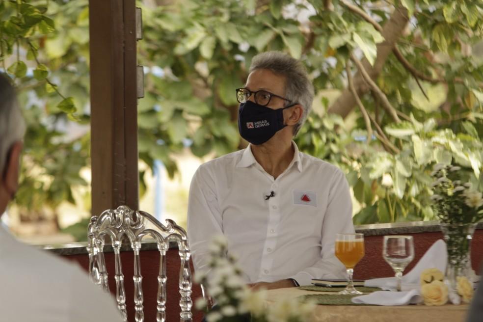 Romeu Zema não assinou carta em apoio ao STF — Foto: Marcelo Barbosa/Imprensa MG