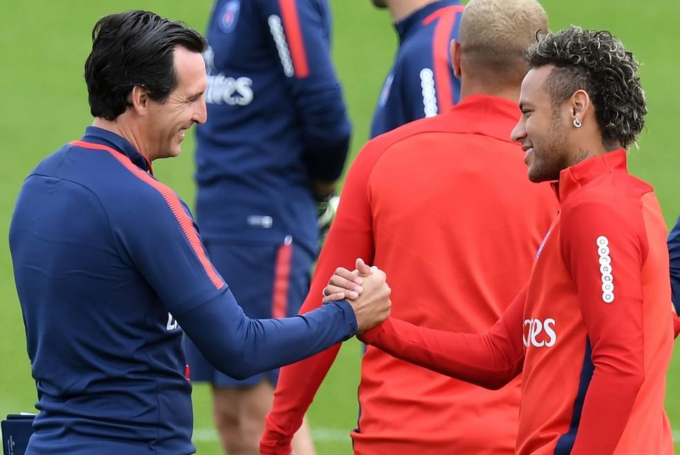 Unai Emery diz que Neymar está pronto para jogar (Foto: AFP)