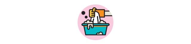 Ícone lavando roupa (Foto: Ícone lavando roupa (Ilustração: Flaticon))