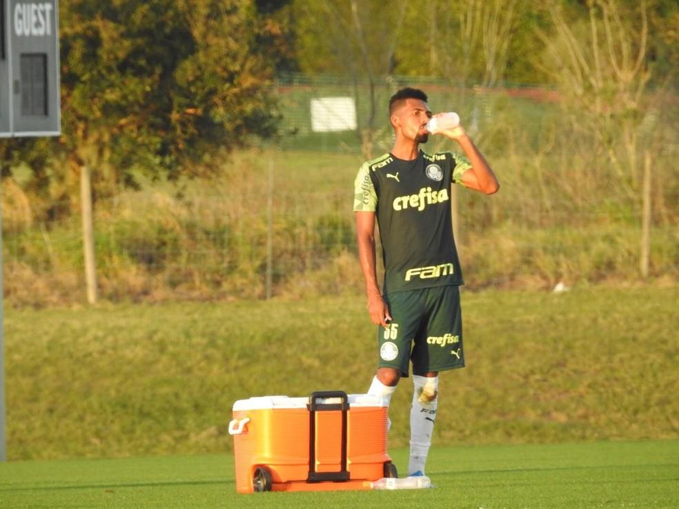 Matheus Fernandes, volante do Palmeiras — Foto: Felipe Zito
