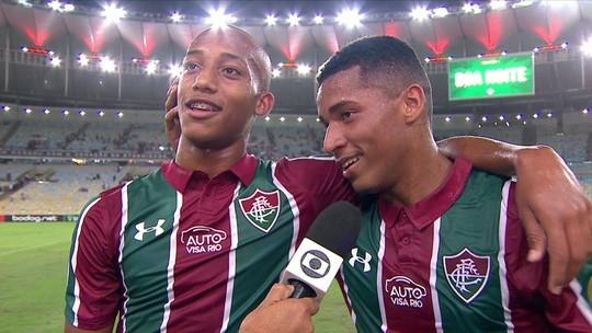 Casal (sub) 20 vive primeira noite de gala no profissional do Fluminense e ganha espaço com Diniz
