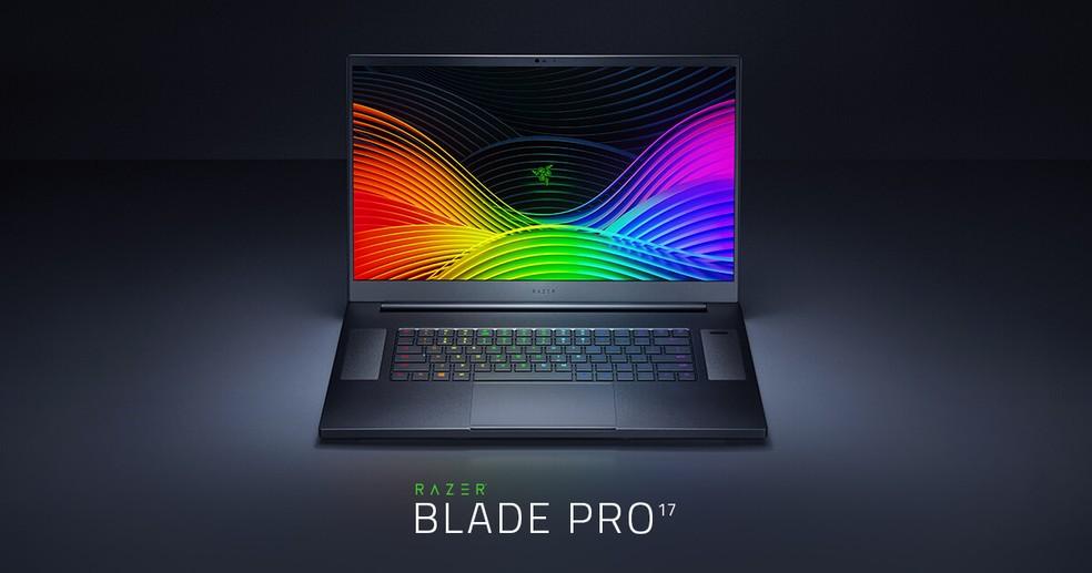 Novo Razer Blade Pro 17 é um dos primeiros laptops com os novos processadores da Intel — Foto: Divulgação/Razer
