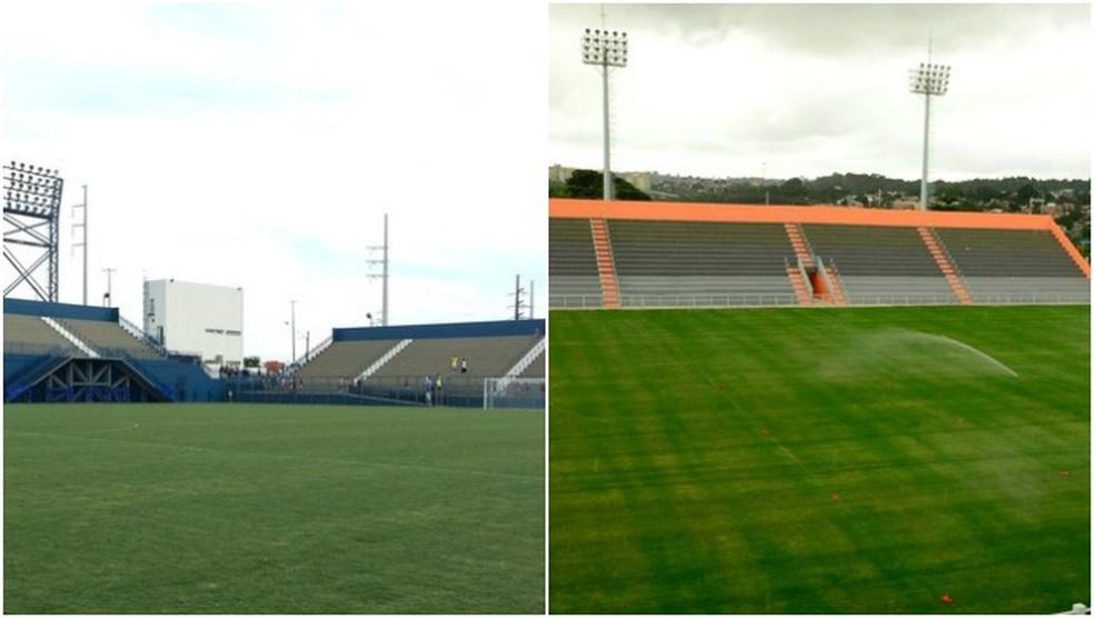 Estádios Ismael Benigno e Carlos Zamith devem servir como solução para clubes do Amazonas (Foto: GloboEsporte.com)