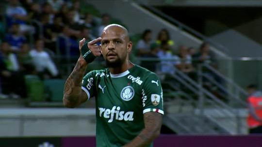 Em contato com repórter, Felipe Melo diz que gesto de arma após jogo do Palmeiras foi para o filho