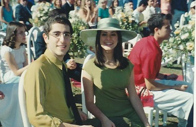 Fernanda com Marcos Mion, que interpretou Max (Foto: Arquivo pessoal)