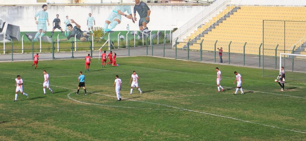 Mogianos abriram o placar contra o América-SP com apenas três minutos de jogo (Foto: Guilherme Borges)