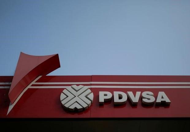 Logo da petroleira estatal PDVSA em Caracas na Venezuela (Foto: Marco Bello/Reuters)