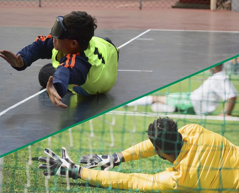 Há quem confunda o goalball como uma adaptação do futebol, porém, ambos são totalmente divergentes (Foto: Yuri Higuchi e Getty Images)