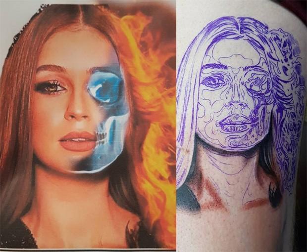 Marina Ruy Barbosa vira inspiração para tatuagem (Foto: Reprodução/Instagram)